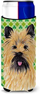 Cairn Terrier St. Patrick's Day Shamrock Portrait Michelob Ultra Koozies for slim cans SC9295MUK 多色 Slim