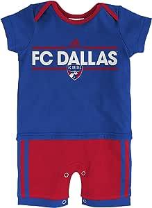 MLS FC Dallas Boys Little Trainer Short sleeve Romper, Blue, 18 Months