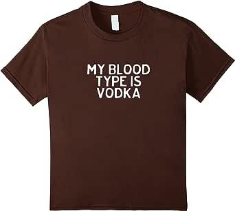 My blood TYPE IS VODKA T 恤  棕色 Kids 12