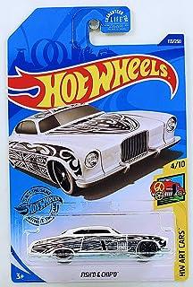 Hot Wheels 2020 国际卡 FISH'D & CHIP'D 113/250 HW 艺术汽车 4/10 白色压铸模型汽车