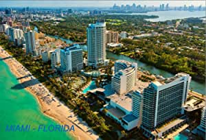 美国佛罗里达州冰箱冰箱磁铁 City: Miami #O2