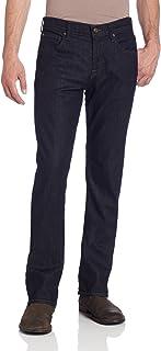 7 For All Mankind 男式 Carsen 直筒牛仔裤,深色和清爽