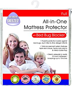 Bed Bug Blocker 多功能一体拉链床垫保护罩防止碰撞、聚拢和* 白色 全部 FRE147XXWHIT02