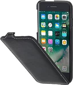 StilGut iPhone 8 Plus 真皮手机壳,超薄翻盖APIP8LTSSTBKPG 黑色(Black Nappa)