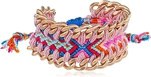 Mercedes Salazar 粉色编织手链