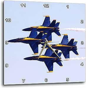 "3dRose dpp_60480_2 Blue Angels at Air Show Wall Clock, 13 by 13"""