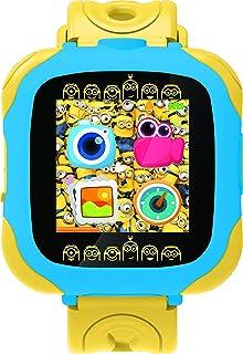 Lexibook Universal Despicable Me Minions 相机手表,带摄像头的智能手表,0.3 MP,触摸屏,可充电电池,蓝色/黄色,DMW100DES