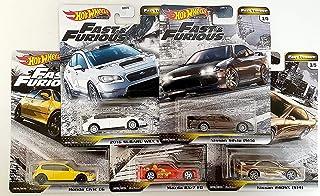 Hot Wheels 快速激情快速调谐器高级压铸套装(本田思域 EG,马自达 Rx-7 FD,斯巴鲁 WRX,日产 Silvia ,240SX)
