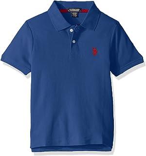 U.S. Polo Assn. 男童短袖 Performance Polo 衫 Raft Blue 5/6