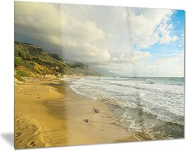 "Waves Meet S & L &Scape 摄影金属墙体艺术 - MT7670-48x28-4 面板 28x12"" MT7670-28-12"