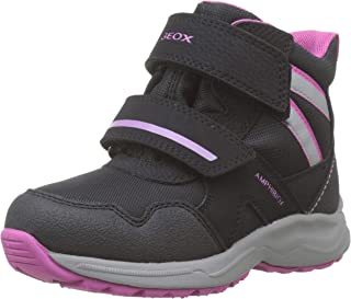 Geox J Kuray Girl B ABX B 雪地靴 Black (Black/Fuchsia C0922) 7 UK