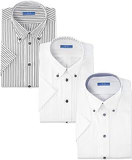 Atelie 圣標志 襯衫套裝 短袖襯衫 3件套 定型 清涼商務 男士