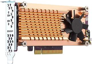 Qnap 双 M.2 22110/2280 SATA SSD 扩展卡(PCIe Gen2 X 2),半高支架预安装,低调平和全高捆绑 PCIe Gen3x4, M.2PCIeSSD X 2,PCIe Gen3 x8 host