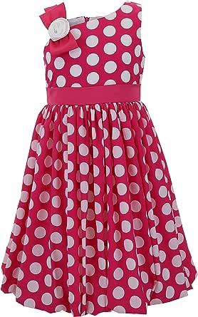Emma Riley 女孩雪纺波点派对连衣裙