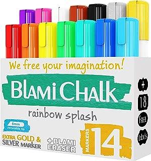 Blami Arts 儿童与艺术家*粉笔 Extra GOLD SILVER 和 ERASER 墨水笔 立即让您的想象不再! 14 chalk markers set 白色