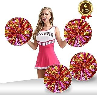 4 件装啦啦啦队球箔塑料金属啦队啦啦啦啦队球球适用于啦队运动儿童成人队精神欢呼