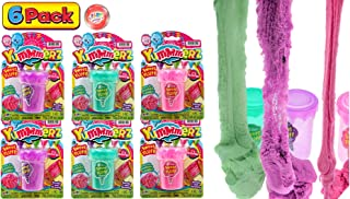 JA-RU 感官沙玩具 毛绒减压(3件组合)无杂乱 棉 动感疯狂模塑 香味 玩具 魔法 床垫 自闭*粘土 ADD 6594-3p 6 Units Cotton Candy Play Sand