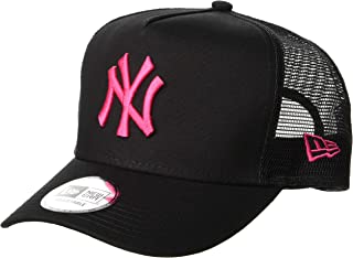 NEW ERA 9FORTY D-Frame Trucker 纽约洋基队 黑色 × 草莓 帽子