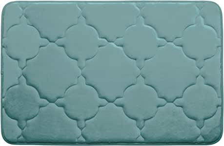 Bounce Comfort Extra Thick Memory Foam Bath Mat - Dorothy Premium Micro Plush Mat with BounceComfort Technology, 17 x 24 in. Marine Blue
