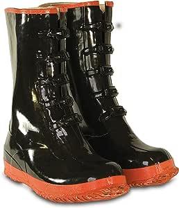 CLC 定制人造革雨衣 5 扣黑色和红色橡胶靴 Size 12 R22012