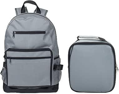 加固防水书包和隔热午餐袋套装 石灰色 13 x 17 x 7.9 inches BPK1011-LB1011-2PCSET