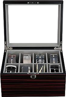 乌木陈列壳适用于 8 个皮带和配件收纳盒
