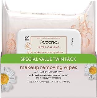 Aveeno 超舒缓洁面无油卸妆湿巾,适合敏感肌肤