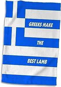 3drose florene 饰有世界食品国旗–希腊 chefs–毛巾