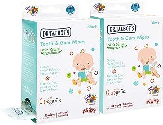 Nuby *婴儿牙龈湿巾,柠檬黄 36份(2包装)