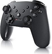 CSL - 任天堂 Switch 手柄 - 無線控制器藍牙 - 游戲控制器 - HD Rumble - Turbo Button - C 型充電接口 - 可充電電池 - 適用于任天堂 Switch