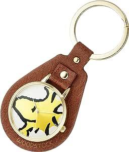 Fieldwork 史努比 模拟 钥匙扣 手表 直径37mm 木制石棕色 PNT007-2