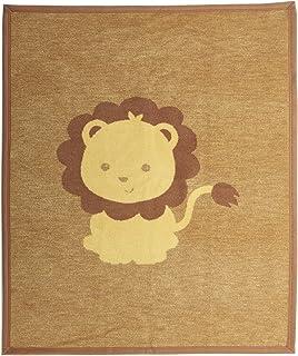 Arus Baby 土耳其棉混纺毛毯 黄色狮子 30WX40L