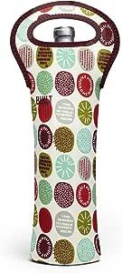 BUILT NY 原创设计师氯丁橡胶葡萄酒/水瓶冰套 1 瓶装,欢乐薄荷 (1B-PMJ)