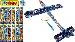 JA-RU 大型悬挂滑翔机飞翔弹簧三角飞机玩具 14 英寸(3 件装)派对用品户外玩具游戏泡沫飞机*礼品玩具适合儿童和成人吊带飞翔 I 5816-3 12 Units Delta Sling Glider