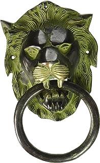 黄铜绿色门 knocker 手工 craved 门 décorative 雕刻小雕像艺术印度