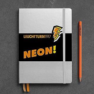 Leuchtturm1917 霓虹橙色记事本 带贴纸