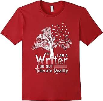 Writer T-Shirts 蔓越梅色 Male 2XL