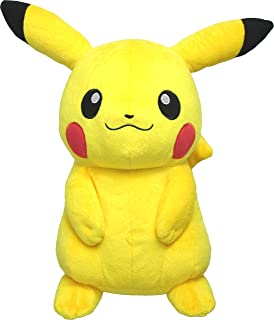 Sanei Pokemon 全明星系列 PP16 皮卡丘填充毛绒玩具,13 英寸/中号