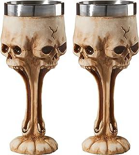 Design Toscano Gothic Scare 骷髅头头 古迹象牙白 JQ99149