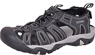 Brown Oak 男式户外防水闭趾徒步涉水鞋运动凉鞋