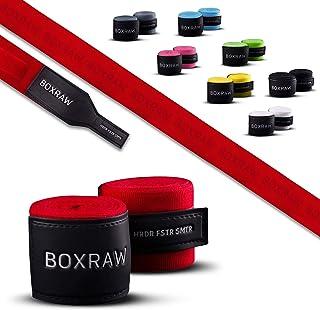 BOXRAW 专业护手绷带 3m / 4.5m | 免费携带包和橡胶带 | 拳击综合格斗成人弹性绷带
