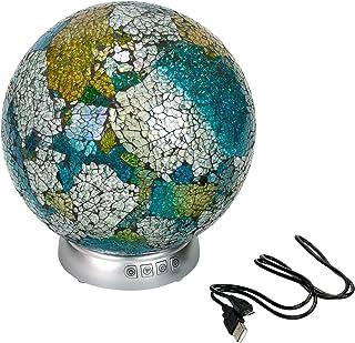 多色破裂 LED 发光 8.5 英寸玻璃环境轨道带蓝牙扬声器