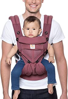 Ergobaby 背带,Omni 360 All Carry Positions 婴儿背带,带凉爽透气网布 梅红色 Cool Air Mesh