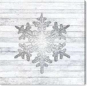 """The Oliver Gal 艺术家公司 圣诞装饰系列帆布墙壁艺术印刷品 White, Gray 16"""" x 16"""" 19315_16x16_CANV_XHD"""