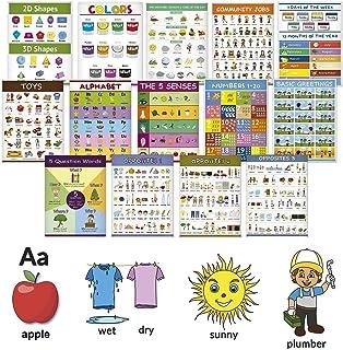教育学步儿童学习海报套装 1 - Language Basics I & Ii