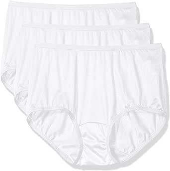 Shadowline 女士内裤-尼龙现代内裤(3 条装) 白色 7