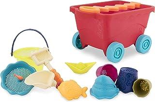 B. Toys - Wavy-Wagon - 旅行沙滩车(红色)11 款时尚沙子玩具 - 不含邻苯二甲酸盐 - 18 个月以上