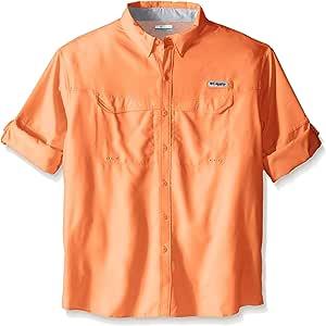 Columbia 男士低拖鞋 Offshore 高大款长袖衬衫 1X 橙色 1450042