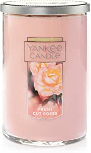 Yankee Candle Fresh Cut Roses 22-Ounce 2-Wick Tumbler Candle, Large