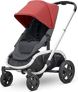 Quinny 酷尼 VNC 轻便高景观婴儿推车,双向可坐可躺,轻便可折叠,四轮独立悬挂避震系统,超大置物篮,适合0-4岁,红色